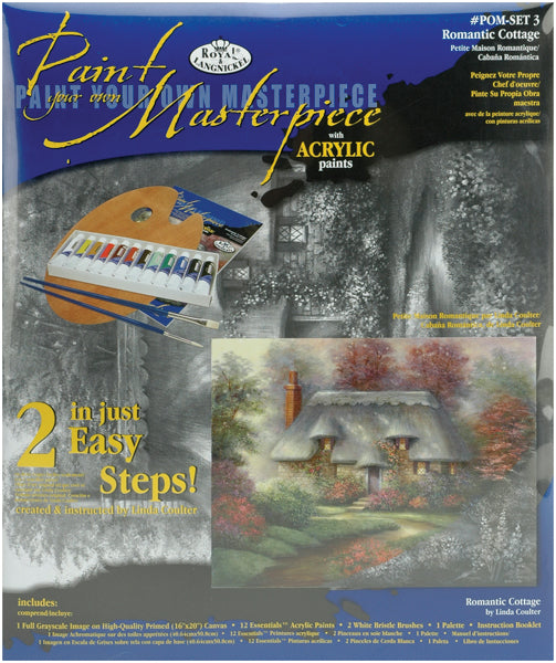 "Acrylic Paint Your Own Masterpiece Kit 11""X14""-Romantic Cottage"