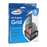 Thornton's Art Supply Grid Plastic 96 Capacity Marker Art Brush Storage Stand Holder