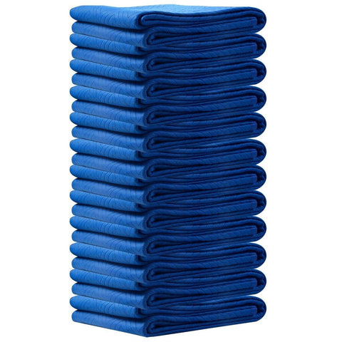 72 x 80 Inches Professional Padded Moving Furniture Blankets, Navy Blue, Set of 12