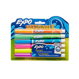 Expo Washable Dry Erase Markers, Fine Point, Assorted Colors, 6-Count