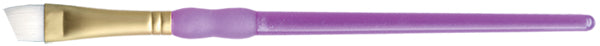 "Crafter's Choice White Taklon Angular Brush-3/8"" Width - Pens N More"