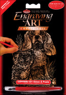 "Copper Foil Engraving Art Mini Kit 5""X7""-Kitten & Puppy - Pens N More"