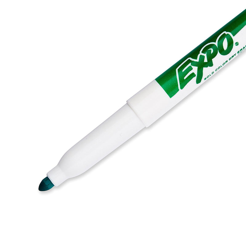 Expo Dry Erase Markers, Fine Point, Green Ink, Pack of 12