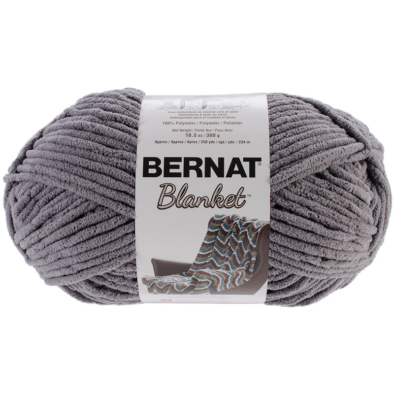 Bernat Blanket Big Ball Yarn-Dark Grey - Pens N More
