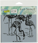 "Crafter's Workshop Template 6""X6""-Flamingos - Pens N More"