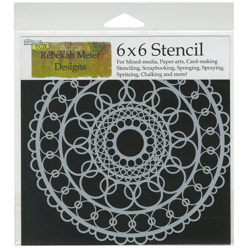 "Crafter's Workshop Template 6""X6""-Ring Doily - Pens N More"