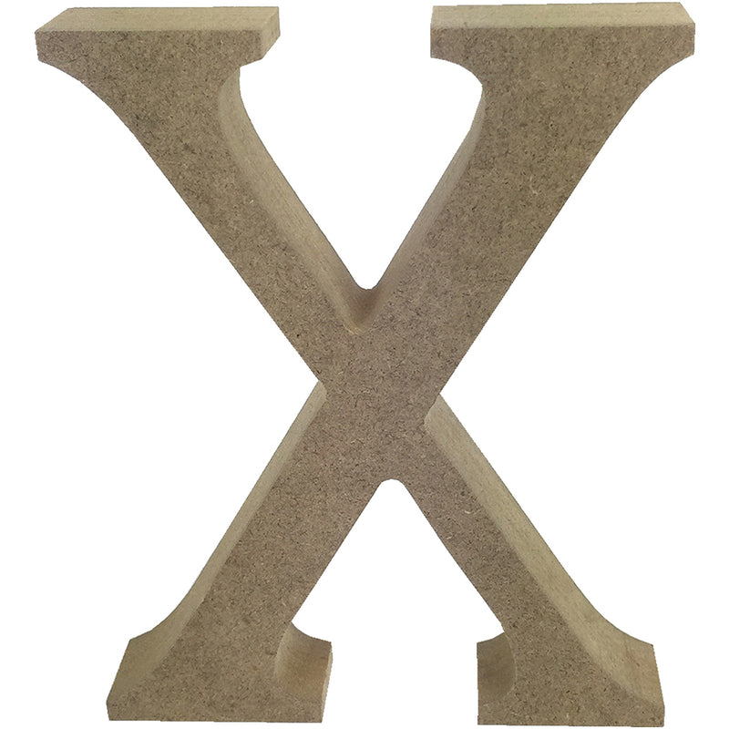 Trimcraft Smooth MDF Blank Letter-Serif Letter X - Pens N More