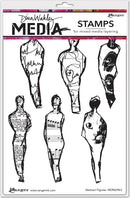 "Dina Wakley Media Cling Stamps 6""X9""-Abstract Figures"