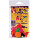 Stick-A-Licks 300/Pkg-Squares, Circles & Triangles 1""