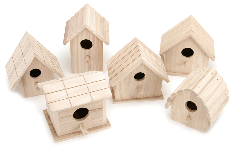 Assorted Wood Birdhouse-