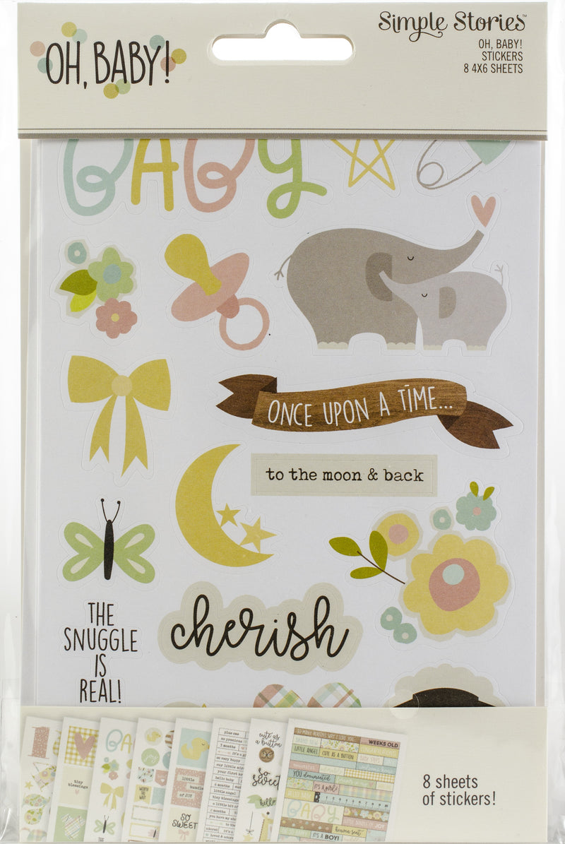 "Oh Baby! Stickers 4""X6"" 8/Pkg- - Pens N More"