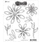 "Dyan Reaveley's Dylusions Cling Stamp Collections 8.5""X7""-Fancy Florals"