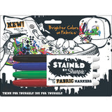 Sharpie Stained Fabric Permanent Markers, Fine Point, Assorted Colors, 4-Count