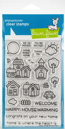 "Lawn Fawn Clear Stamps 4""X6""-Happy Village - Pens N More"