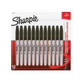 Sharpie Permanent Markers, Fine Point, Black Ink, 144-Count