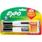 Expo Magnetic Dry Erase Chisel Marker With Eraser 2/Pkg-Black