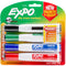 Expo Magnetic Dry Erase Chisel Marker With Eraser 4/Pkg-Assorted