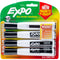 Expo Magnetic Dry Erase Chisel Marker With Eraser 4/Pkg-Black