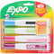 Expo Magnetic Dry Erase Chisel Marker With Eraser 4/Pkg-Assorted Bright