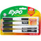 Expo Magnetic Dry Erase Fine Marker With Eraser 4/Pkg-Black