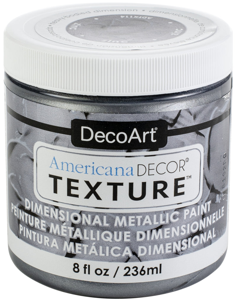 Americana Decor Texture Metallics 8oz-Zinc