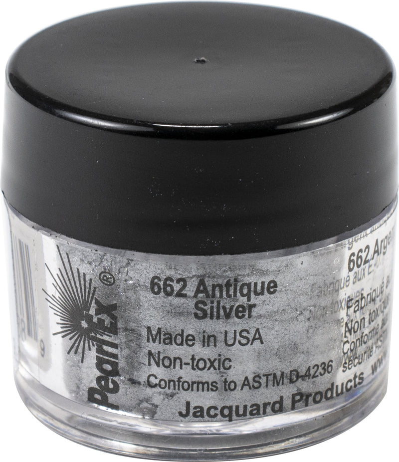 Jacquard Pearl Ex Powdered Pigment 3g-Metallics - Antique Silver