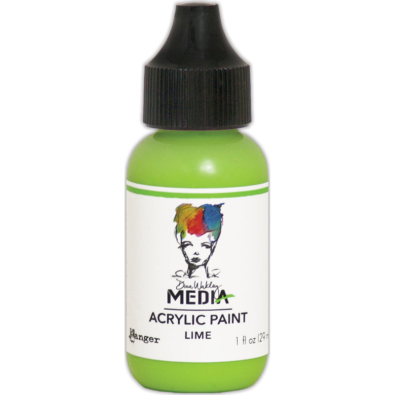 Dina Wakley Media Acrylic Paint 1oz-Lime