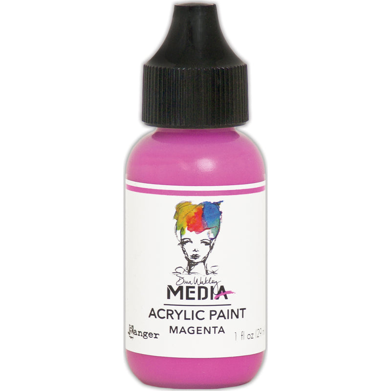 Dina Wakley Media Acrylic Paint 1oz-Magenta