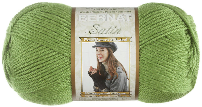 Bernat Satin Solid Yarn-Fern - Pens N More