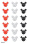 Disney Dimensional Stickers-Mickey Heads/Multicolor