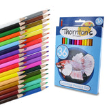 Thornton's Art Supply 36 Piece Colored Pencil Artist Drawing Set