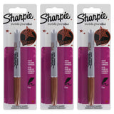 Sharpie Metallic Permanent Marker, Fine Point, Metallic Bronze, 3-Count
