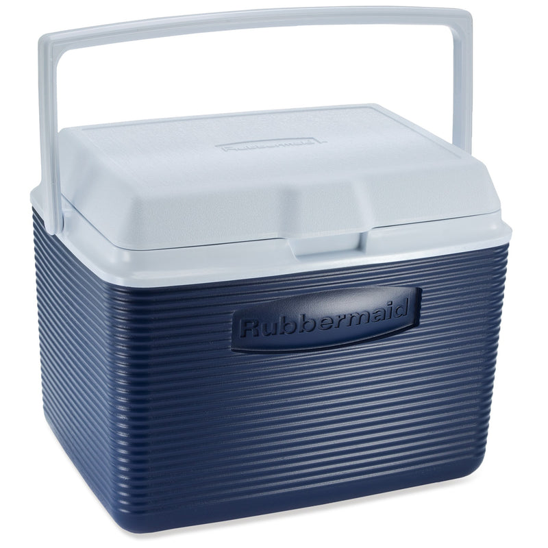 Rubbermaid Ice Chest Cooler, 24-Quart, Blue, Each (FG2A13PRMODBL)