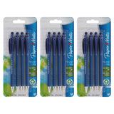 Paper Mate FlexGrip Ultra Retractable Ball Point Pens, 0.8mm, Fine Point, Blue Ink, 12-Count