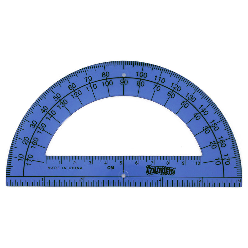Sanford Colorific 6 Inch Translucent Plastic Ruler/Protractor, Assorted Colors, 4-Count