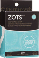 "Zots Clear Adhesive Dots-Removable 3/8""X1/64"" Thick 200/Pkg"