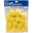 "Pom-Poms 1.5"" 15/Pkg-Yellow - Pens N More"