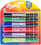 Expo Ink Indicator Dry Erase Chisel Markers 6/Pkg-Black, Blue, Red, Green, Purple & Lime