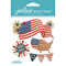 Jolee's Boutique Dimensional Stickers-American Flag