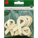 Assorted Wood Shapes-Ribbons 8/Pkg