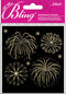 Jolee's Bling Stickers-Gold Fireworks