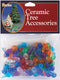 "Ceramic Christmas Tree Bulbs .5"" 100/Pkg-Medium Globe - Multicolor"
