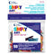 Loew-Cornell Simply Art Wood Tiny Spring Clothespins, Colored, 1 Inch, 50-Count