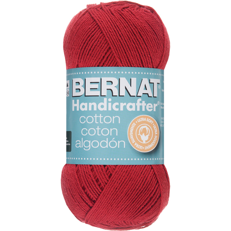 Handicrafter Cotton Yarn - Solids-Country Red - Pens N More
