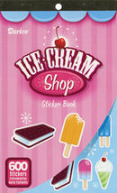 "Sticker Book 9.5""X6""-Ice Cream Shop 600/Pkg"