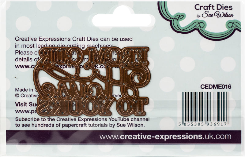 Creative Expressions Festive Craft Dies By Sue Wilson-Mini Expressions-Our House To Yours - Pens N More
