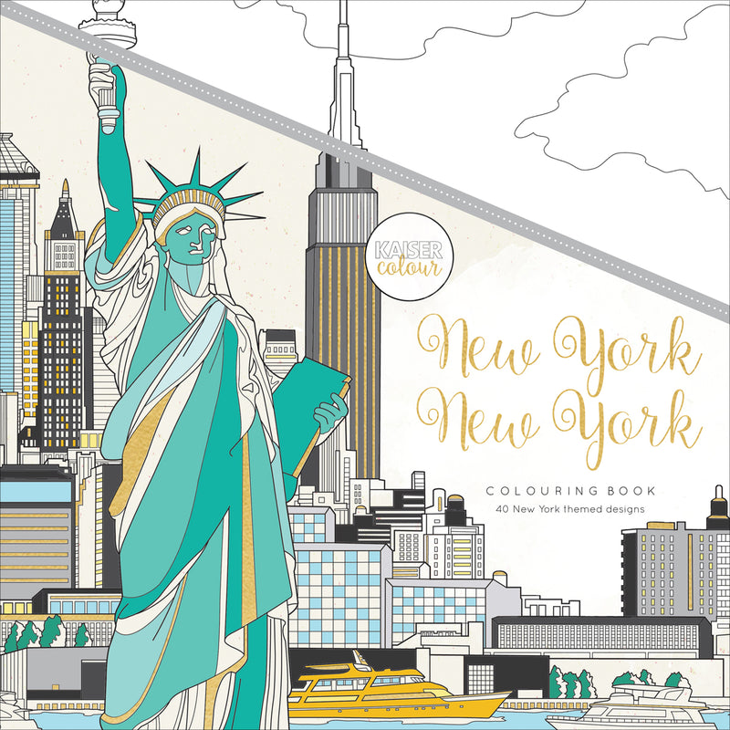 "KaiserColour Perfect Bound Coloring Book 9.75""X9.75""-New York - Pens N More"