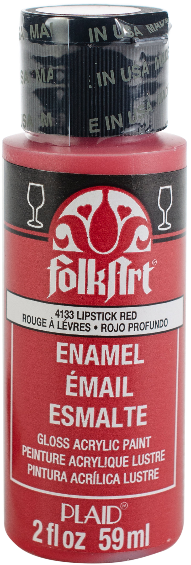 FolkArt Enamel Paint 2oz-Lipstick Red - Pens N More