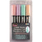 Bistro Chalk Marker Chisel Tip Set 4/Pkg-Pastel Yellow, Pink, Green & Blue