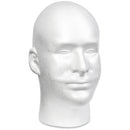 "Styrofoam Male Head Bulk-11""X6.5""X8.5"" - Pens N More"